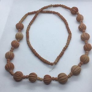 Vintage Clay Bead Necklace from Mexico